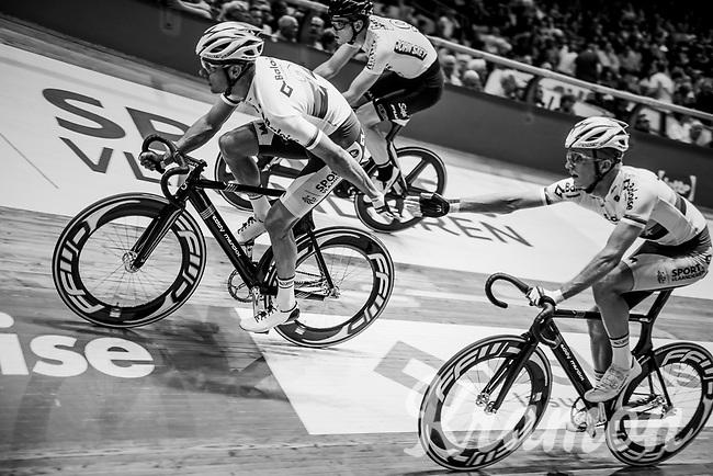 Kenny De Ketele (BEL/SportVlaanderen-Baloise) & Robbe Ghys (BEL/SportVlaanderen-Baloise)<br /> <br /> Lotto 6daagse Vlaanderen-Gent 2018 / Gent6<br /> day 5