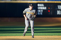 Missouri Tigers third baseman Zach Lavy (14) on defense against the Wake Forest Demon Deacons at Wake Forest Baseball Park on February 22, 2014 in Winston-Salem, North Carolina.  The Demon Deacons defeated the Tigers 1-0.  (Brian Westerholt/Four Seam Images)