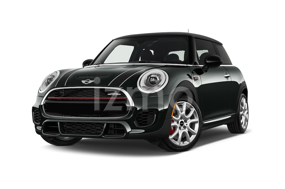 Stock pictures of low aggressive front three quarter view of2015 MINI Mini John Cooper Works 3 Door Hatchback Low Aggressive