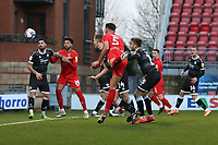 Dan Happe of Leyton Orient goes close during Leyton Orient vs Crawley Town, Sky Bet EFL League 2 Football at The Breyer Group Stadium on 19th December 2020