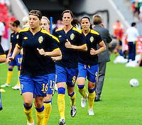 Fifa Women's World Cup Germany 2011 : Colombia - Sweden at Bayarena Leverkusen : Lotta Schelin..foto DAVID CATRY / Vrouwenteam.be