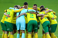 7th November 2020; Carrow Road, Norwich, Norfolk, England, English Football League Championship Football, Norwich versus Swansea City; Marco Stiepermann of Norwich City during the team huddle before kick off