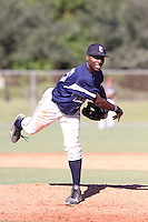Travis Demeritte, #25 Winder Barrow High School, Georgia  playing for the East Cobb Baseball during the WWBA World Champsionship 2012 at the Roger Dean Complex on October 29, 2012 in Jupiter, Florida. (Stacy Jo Grant/Four Seam Images)