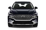 Car photography straight front view of a 2021 Hyundai Santa-FE Shine 5 Door SUV Front View