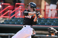 April 15th 2008:  Infielder Ryan Roberson (25) of the Erie Seawolves, Class-AA affiliate of the Detroit Tigers, during a game at Jerry Uht Park in Erie, PA.  Photo by:  Mike Janes/Four Seam Images
