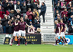 St Johnstone v Hearts…29.09.18…   Tynecastle     SPFL<br />Jimmy Dunne celebrates scoring Hearts second goal<br />Picture by Graeme Hart. <br />Copyright Perthshire Picture Agency<br />Tel: 01738 623350  Mobile: 07990 594431