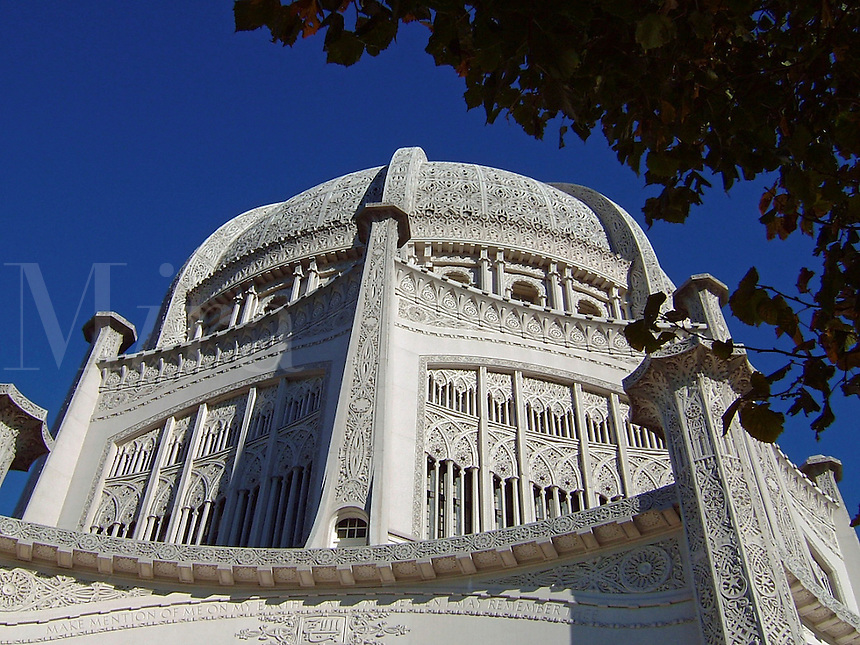 The Baha'i Temple in Wilmette, Illinois, USA.