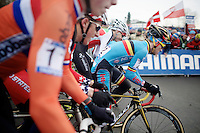 And they're off!<br /> <br /> Men Juniors Race<br /> <br /> 2015 UCI World Championships Cyclocross <br /> Tabor, Czech Republic