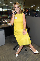 Charlotte Hawkins<br /> on the trading floor for the BGC Charity Day 2016, Canary Wharf, London.<br /> <br /> <br /> ©Ash Knotek  D3152  12/09/2016