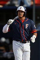 February 21 2010: Geno Escalante of Cal. St. Fullerton during game against Cal. St. Long Beach at Goodwin Field in Fullerton,CA.  Photo by Larry Goren/Four Seam Images