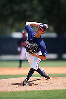 GCL Braves starting pitcher Ian Anderson (64) delivers a pitch during a game against the GCL Blue Jays on August 5, 2016 at ESPN Wide World of Sports in Orlando, Florida.  GCL Braves defeated the GCL Blue Jays 9-0.  (Mike Janes/Four Seam Images)