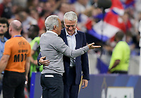 Lyon, France - Saturday June 09, 2018: Dave Sarachan, Didier Deschamps during an international friendly match between the men's national teams of the United States (USA) and France (FRA) at Groupama Stadium.