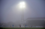 Queen of the South v St Johnstone...07.02.15    Scottish Cup 5th Round<br /> A very foggy Palmerston<br /> Picture by Graeme Hart.<br /> Copyright Perthshire Picture Agency<br /> Tel: 01738 623350  Mobile: 07990 594431