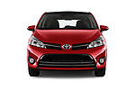 Car photography straight front view of a 2017 Toyota Verso 50th-Anniversary+-PACK 5 Door Mini MPV Front View