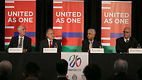 Toronto, Ontario - Saturday December 09, 2017: The United Bid for 2026 FIFA World Cup Presentation to Media was held at the Westin Harbour Castle - Harbour Ballroom.