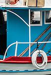 Local fishing boat on the island of Corfu in the Ionian Islands, Greece