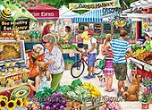 Randy, LANDSCAPES, LANDSCHAFTEN, PAISAJES, paintings+++++,USRW342,#l#, EVERYDAY,market,summer ,puzzle,puzzles
