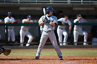 Nate Soria (5) of the Xavier Musketeers at bat against the Penn State Nittany Lions at Coleman Field at the USA Baseball National Training Center on February 25, 2017 in Cary, North Carolina. The Musketeers defeated the Nittany Lions 10-4 in game one of a double header. (Brian Westerholt/Four Seam Images)