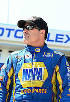 Sept. 22, 2012; Ennis, TX, USA: NHRA funny car driver Ron Capps during qualifying for the Fall Nationals at the Texas Motorplex. Mandatory Credit: Mark J. Rebilas-
