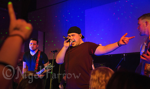 10 Jan 2015 - STOWMARKET, GBR - Sam Robson of Renegade Twelve on vocals performs at the John Peel Centre for Creative Arts in Stowmarket, Suffolk, Great Britain (PHOTO COPYRIGHT © 2015 NIGEL FARROW, ALL RIGHTS RESERVED)