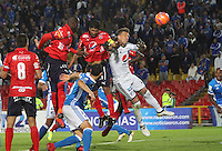 BOGOTA -COLOMBIA, 5-02-2017. Christian Marrugo player of Independiente Medellin scores his goal against Millonarios  during match for the date 1 of the Aguila League I 2017 played at Nemesio Camacho El Campin stadium . Photo:VizzorImage / Felipe Caicedo  / Staff