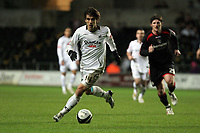 Pictured: Jordi Gomez of Swansea with ball<br /> Re: Coca Cola Championship, Swansea City FC v Barnsley at the Liberty Stadium. Swansea, south Wales, Tuesday 09 December 2008.<br /> Picture by D Legakis Photography / Athena Picture Agency, Swansea 07815441513