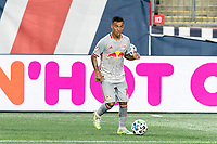 FOXBOROUGH, MA - AUGUST 29: Kaku #10 of New York Red Bulls looks to pass during a game between New York Red Bulls and New England Revolution at Gillette Stadium on August 29, 2020 in Foxborough, Massachusetts.