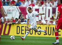 USA's Landon Donovan takes a free kick against Turkey during an international friendly tune up match for the 2010 World Cup, at Lincoln Financial Field, in Philadelphia, PA, Saturday, May 29, 2010. USA defeated Turkey 2-1.