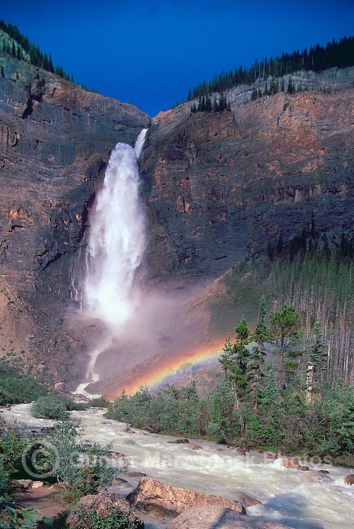 Yoho National Park, Canadian Rockies, BC, British Columbia, Canada - Takakkaw Falls and Yoho River, Summer