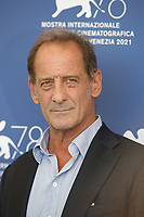 """VENICE, ITALY - SEPTEMBER 10: Vincent Lindon attends the photocall of """"Un Autre Monde"""" during the 78th Venice International Film Festival on September 10, 2021 in Venice, Italy. <br /> CAP/GOL<br /> ©GOL/Capital Pictures"""