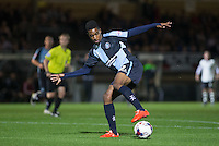 Jason Banton of Wycombe Wanderers controls the ball during the Capital One Cup match between Wycombe Wanderers and Fulham at Adams Park, High Wycombe, England on 11 August 2015. Photo by Andy Rowland.