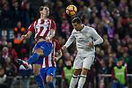 Atletico de Madrid's Diego Godin Real Madrid's Cristiano Ronaldo  during the match of La Liga between Atletico de Madrid and Real Madrid at Vicente Calderon Stadium  in Madrid , Spain. November 19, 2016. (ALTERPHOTOS/Rodrigo Jimenez)