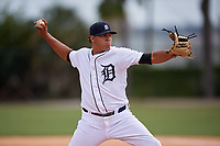 Detroit Tigers pitcher Jose Pina (31) during an Instructional League instrasquad game on September 20, 2019 at Tigertown in Lakeland, Florida.  (Mike Janes/Four Seam Images)