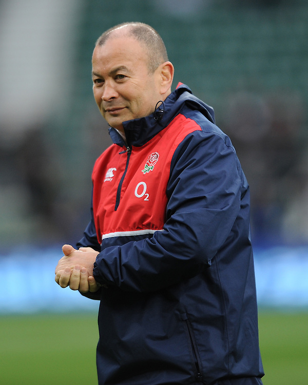 Eddie Jones, FEBRUARY 27, 2016 - Rugby : Eddie Jones,England Head Coach looks on before the RBS 6 Nations match between England and Ireland at Twickenham Stadium, London, United Kingdom. (Photo by Rob Munro)