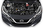 Car stock 2020 Nissan Versa SV 4 Door Sedan engine high angle detail view