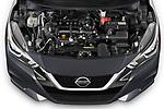 Car stock 2020 Nissan Versa SV 4 Door Sedan engine high angle detail view