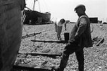 Fisherman and wife Dungeness Kent 1969.<br /> The late Charlie and Flo Tart. ( Charles and  Florence the former also known as Charlie Brown) Thanks to Mike Golding.