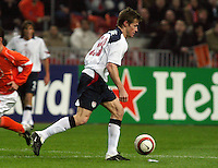 Brian McBride, US Men's National Team vs Holland's National Team at ArenA in Amsterdam where Ajax plays.