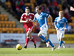St Johnstone v Aberdeen…15.04.17     SPFL    McDiarmid Park<br />Danny Swanson charges foward<br />Picture by Graeme Hart.<br />Copyright Perthshire Picture Agency<br />Tel: 01738 623350  Mobile: 07990 594431