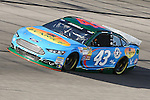 Sprint Cup Series driver Aric Almirola (43) in action during the Nascar Sprint Cup Series Duck Commander 500 practice at Texas Motor Speedway in Fort Worth,Texas.