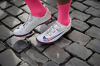British Champion Adam Blythe's (GBR/Aqua Blue Sport) footwear<br /> <br /> Binche-Chimay-Binche 2017 (BEL) 197km<br /> 'Mémorial Frank Vandenbroucke'