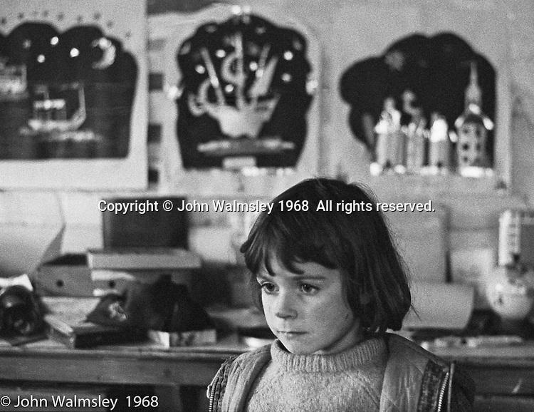 Daydreaming, Art room, Summerhill school, Leiston, Suffolk, UK. 1968.