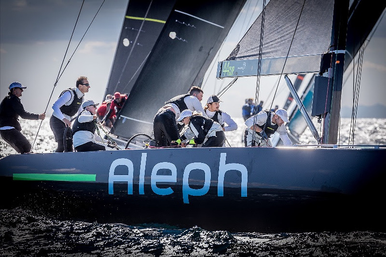 Dubliner Cian Guilfolye is a crew member on Aleph, the overall leader of the 44Cup Worlds in Italy