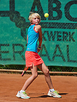 Netherlands, Dordrecht, August 03, 2015, Tennis,  National Junior Championships, NJK, TV Dash 35, Tesse Haan<br /> Photo: Tennisimages/Henk Koster