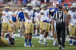 Tulsa Golden Hurricane defensive end Trevis Gipson (15) in action during the game between the Tulsa Golden Hurricanes and the SMU Mustangs at the Gerald J. Ford Stadium in Fort Worth, Texas.