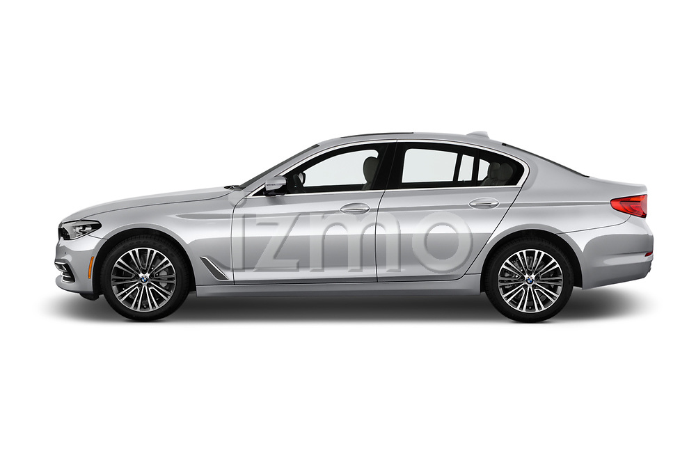 Car driver side profile view of a 2018 BMW 5 Series 530i 4 Door Sedan