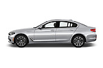 Car driver side profile view of a 2018 BMW 5 Series 530i 4 Door Sedan