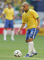 Roberto Carlos of Brazil. Brazil defeated Australia, 2-0, in their FIFA World Cup Group F match at the FIFA World Cup Stadium, Munich, Germany, June 18, 2006.