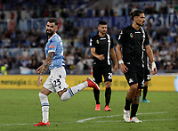 28th August 2021; Olympic Stadium, Rome, Italy; Serie A football, SS Lazio versus AC Spezia : Elseid Hysaj of Lazio celebrates after he scores for 5 -1 in 70th minute