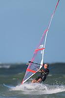 Windsurfer on the water just off of Fort Desoto Park, Tierra Verde, Florida